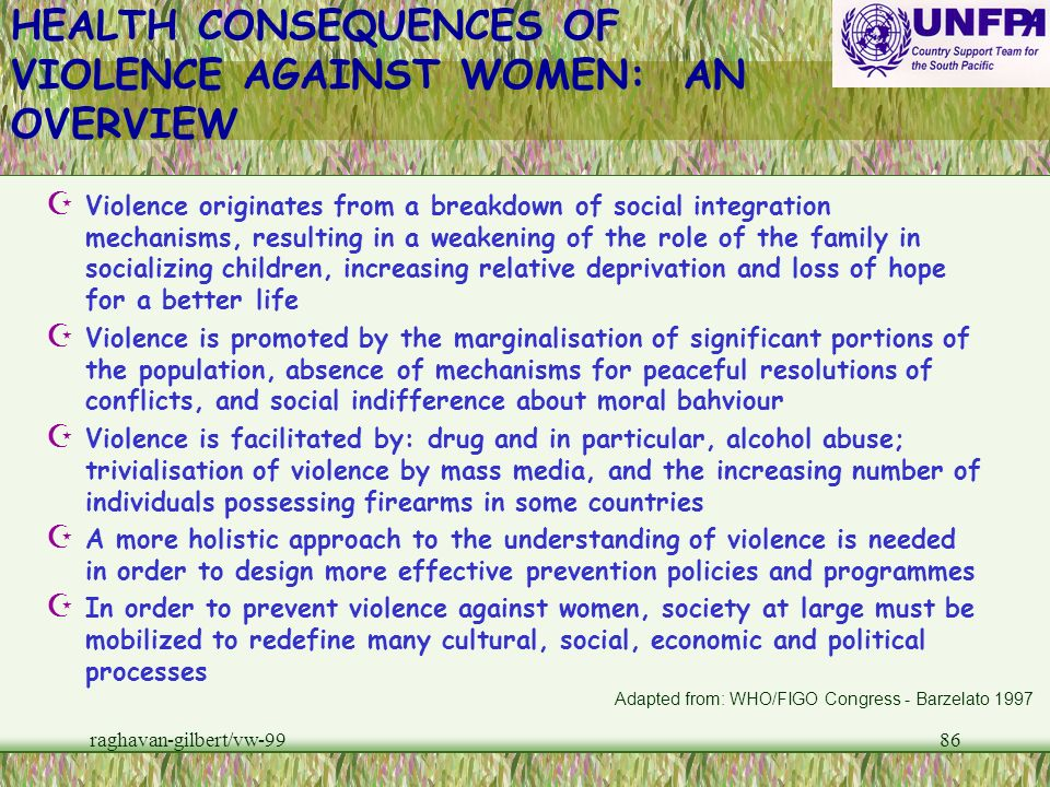 HEALTH CONSEQUENCES OF VIOLENCE AGAINST WOMEN: AN OVERVIEW