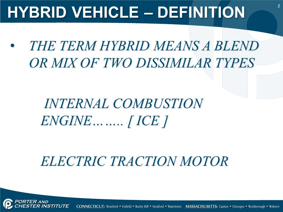2 Hybrid Vehicle Definition