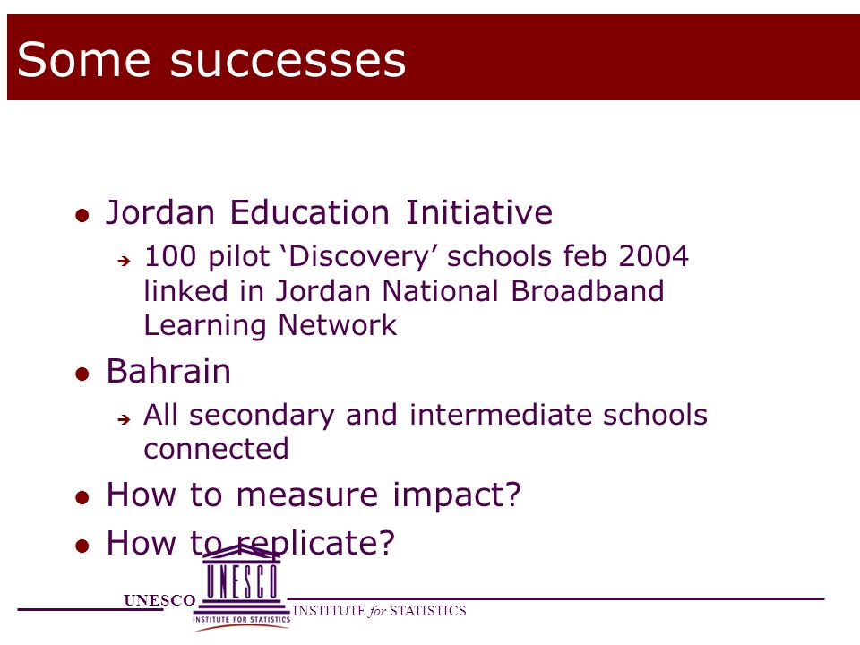 Some successes Jordan Education Initiative Bahrain