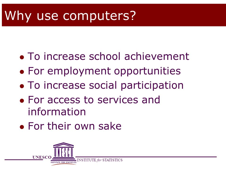 Why use computers To increase school achievement