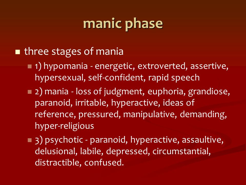 Hypersexuality and manic depression