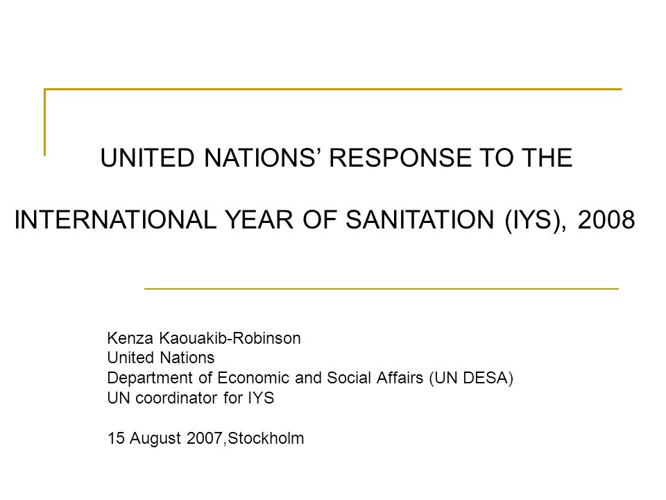 UNITED NATIONS' RESPONSE TO THE