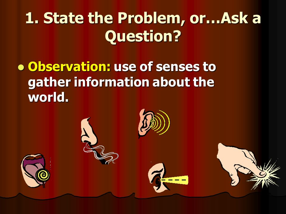 1. State the Problem, or…Ask a Question