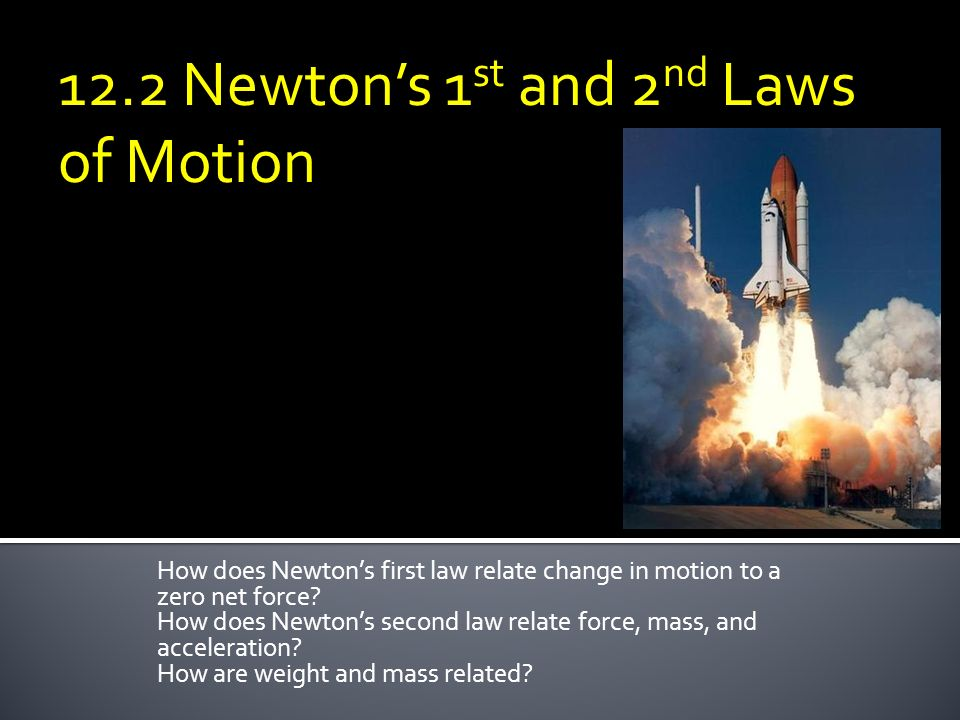 12.2 Newton's 1st and 2nd Laws of Motion