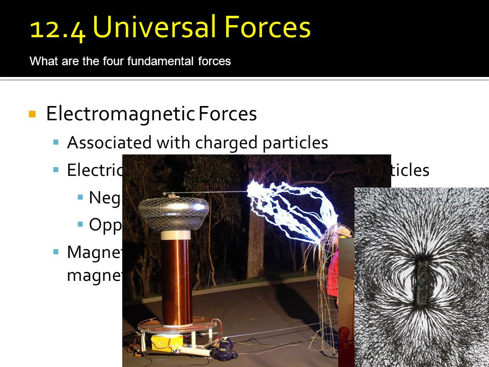 12.4 Universal Forces Electromagnetic Forces