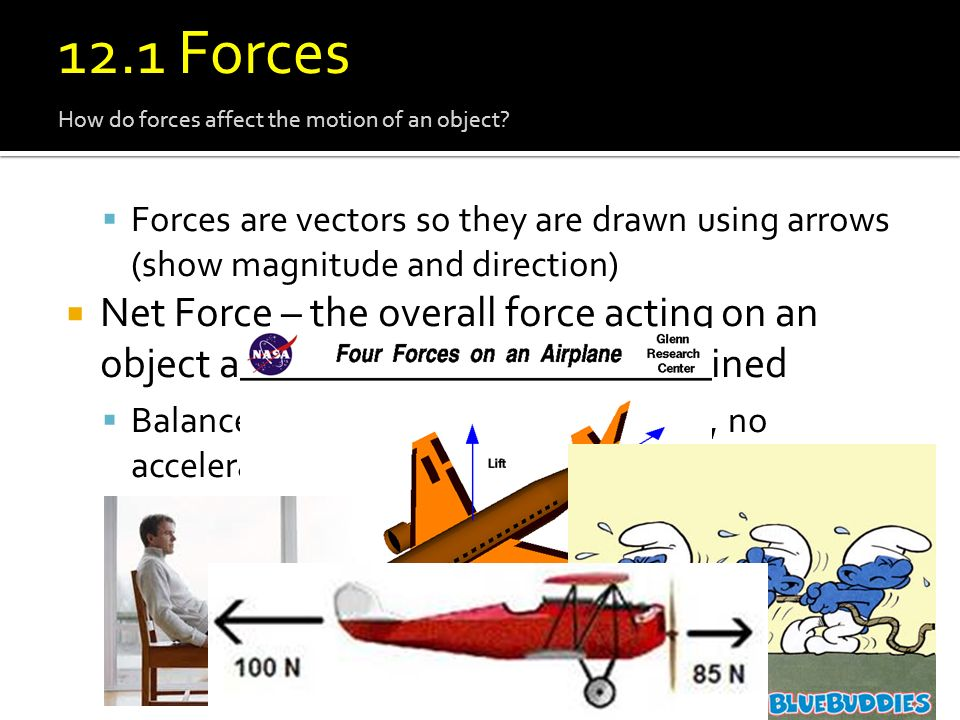 12.1 Force 12.1 Forces. How do forces affect the motion of an object