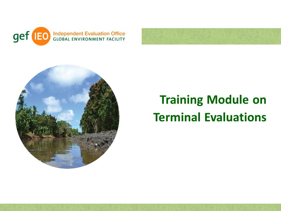 Training Module on Terminal Evaluations