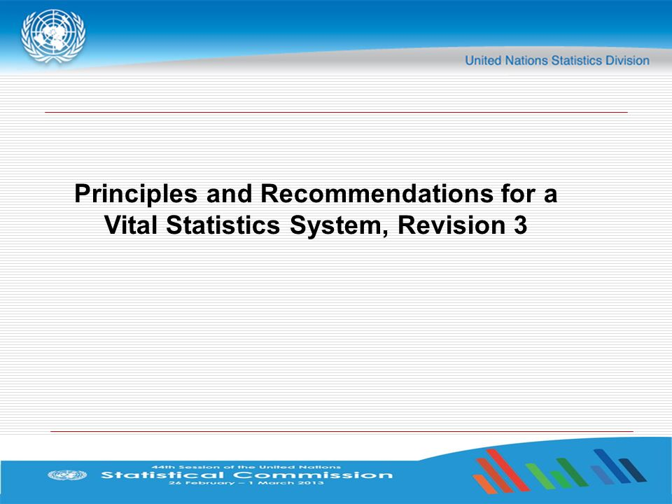 Principles and Recommendations for a Vital Statistics System, Revision 3