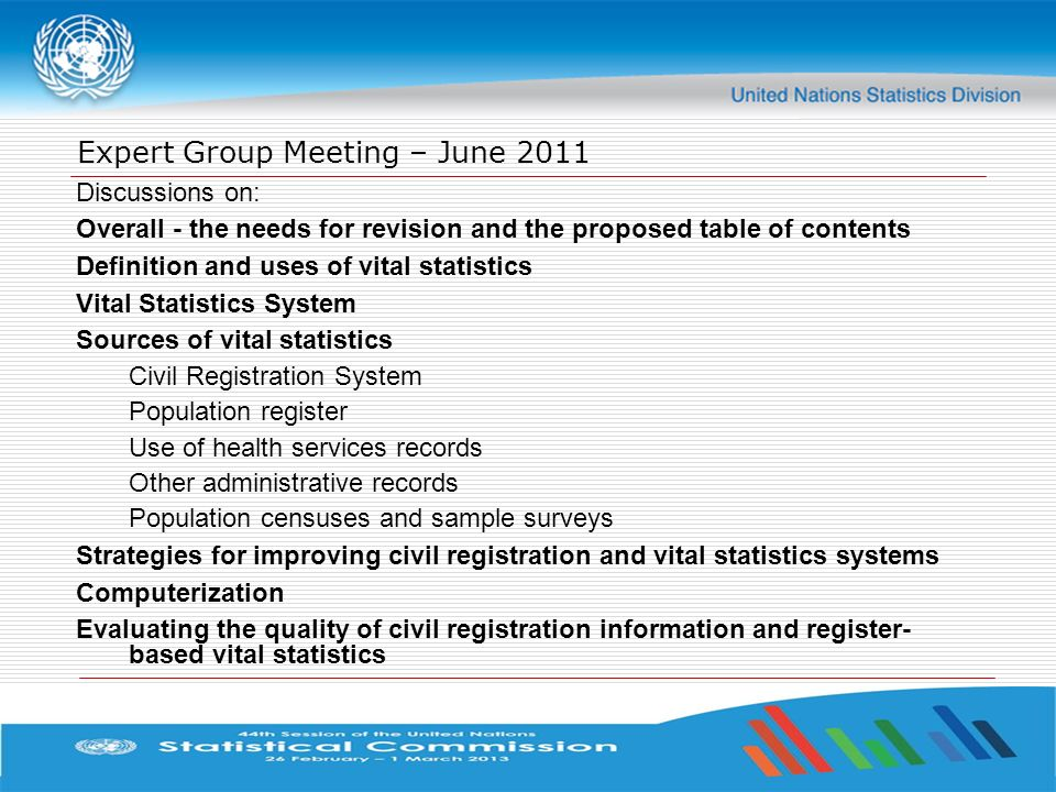 Expert Group Meeting – June 2011