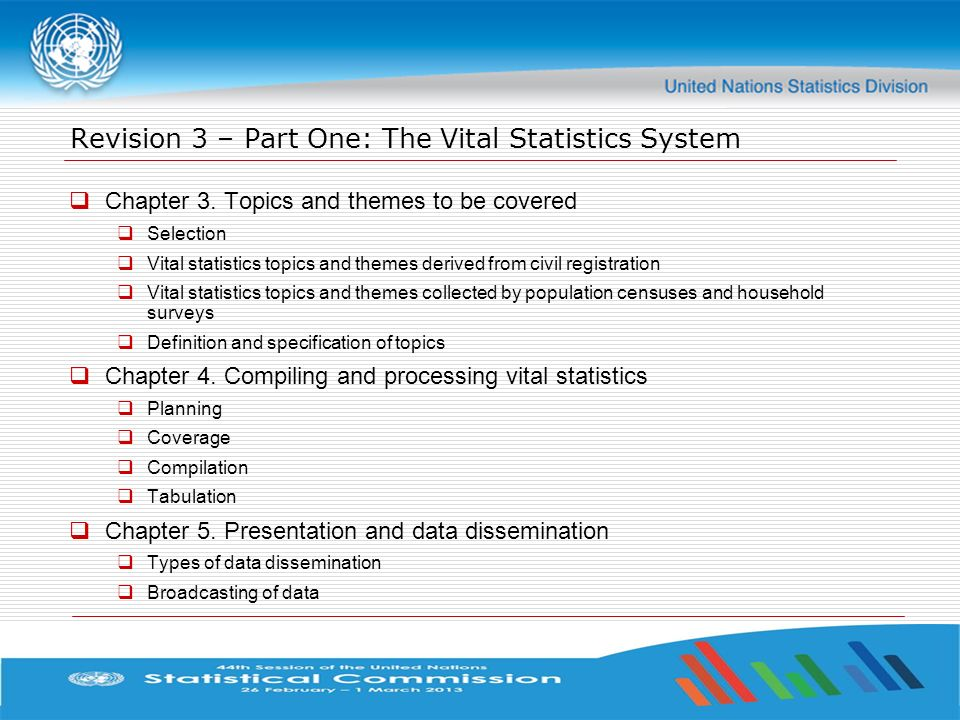 Revision 3 – Part One: The Vital Statistics System