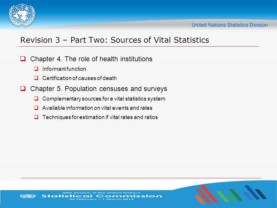 Revision 3 – Part Two: Sources of Vital Statistics