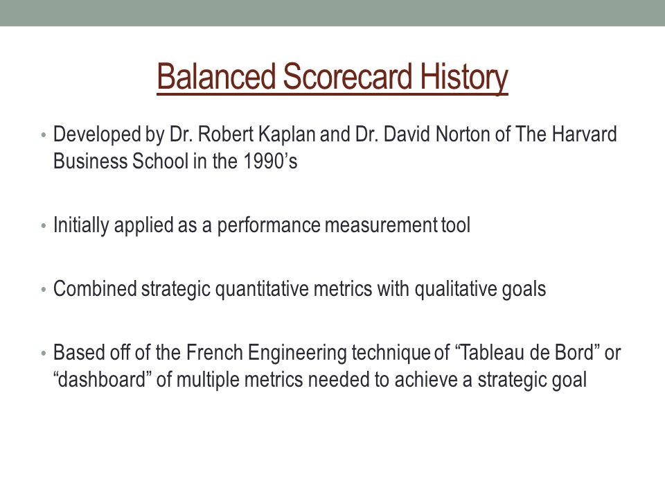 The Balanced Scorecard - ppt video online download