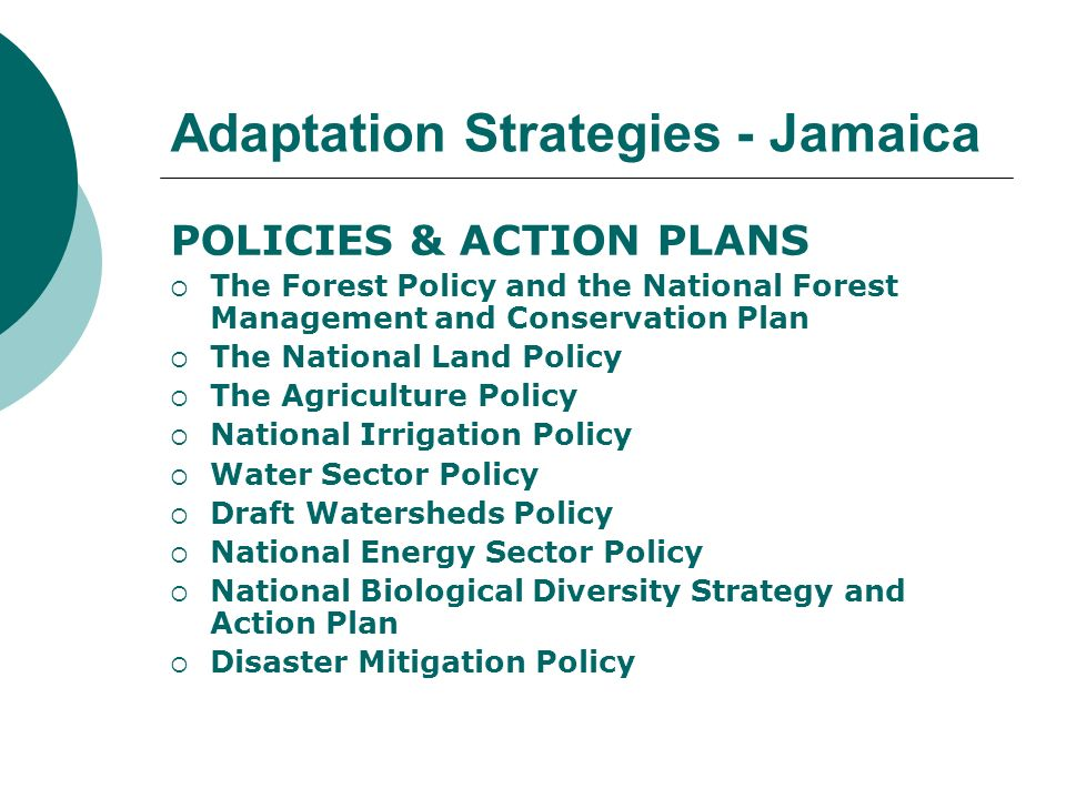 Adaptation Strategies - Jamaica