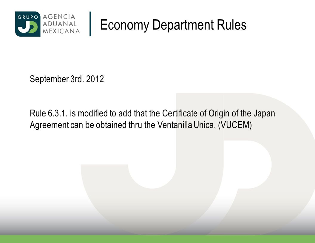 Economy Department Rules