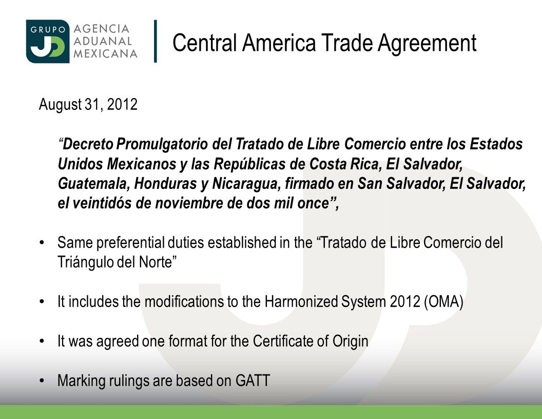 Central America Trade Agreement