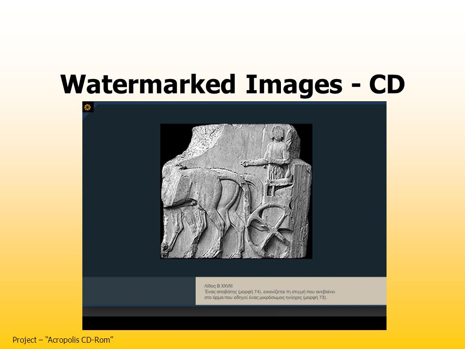 Watermarked Images - CD