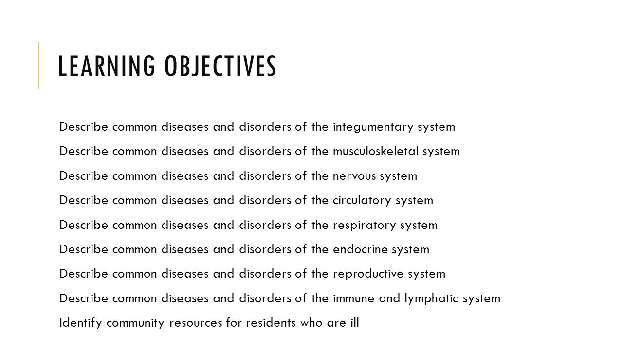 Chapter 18: Common chronic and acute conditions - ppt download