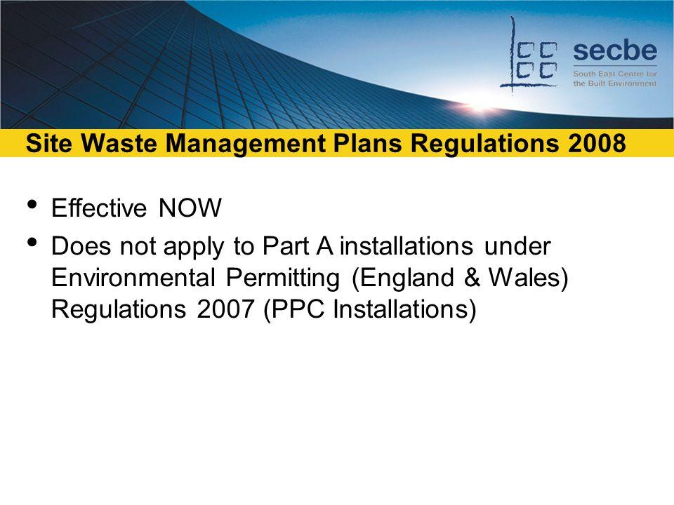 Site Waste Management Plans Ppt Download