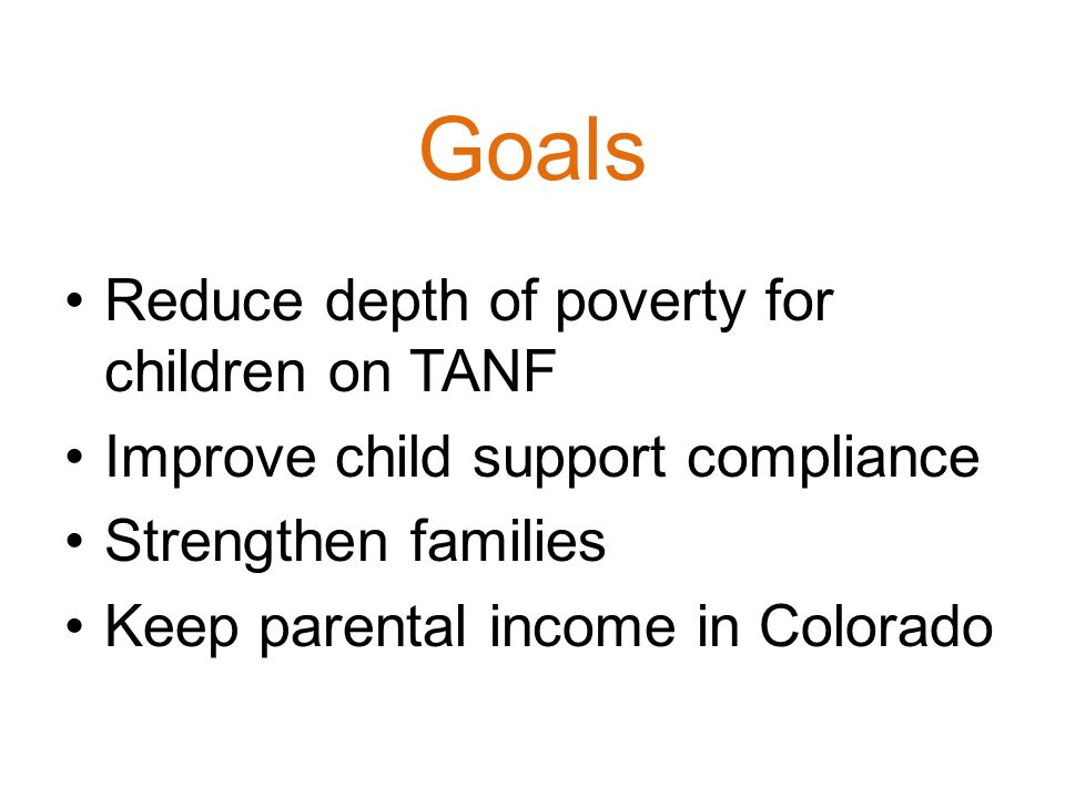 TANF……Colorado Works A bit more about the legal stuff…………… - ppt