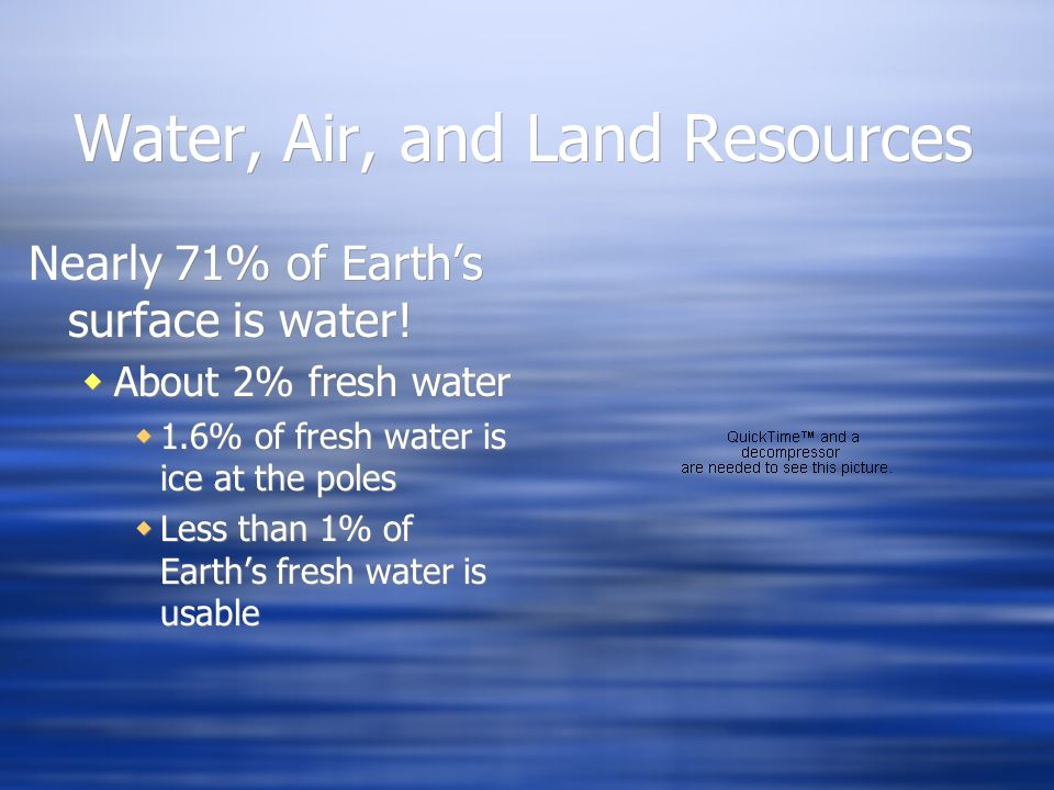 Water, Air, and Land Resources