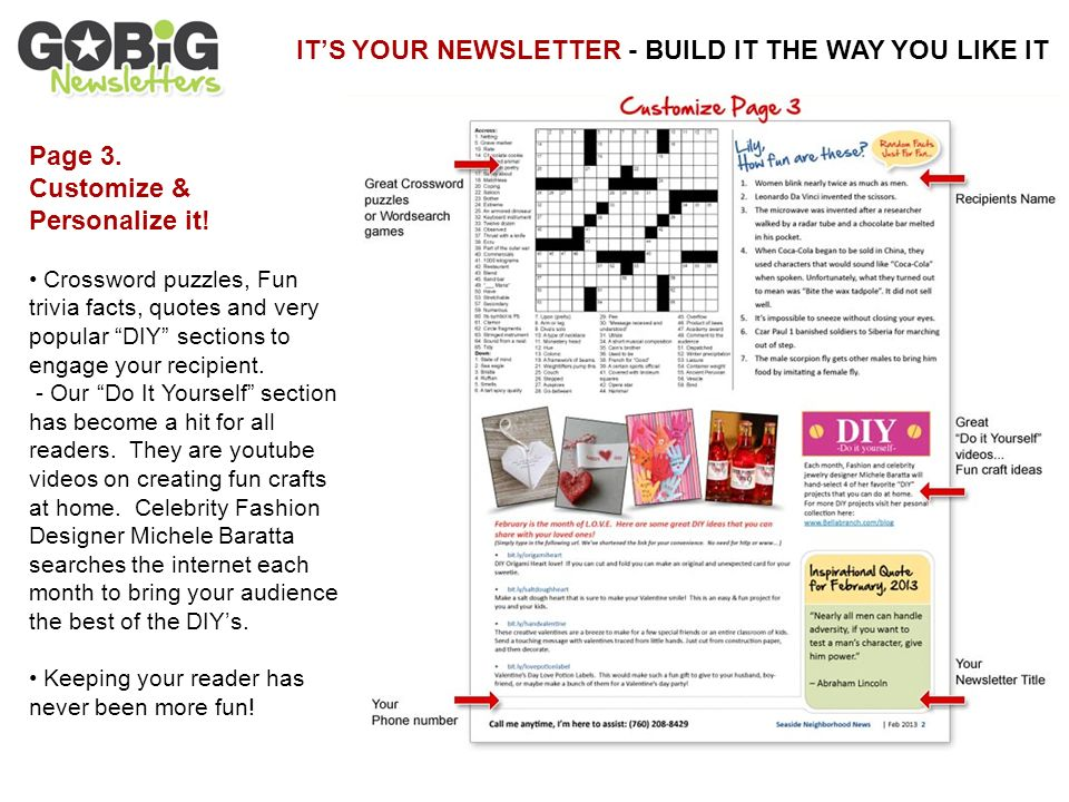 personalize the theme in your print mail newsletter to match your