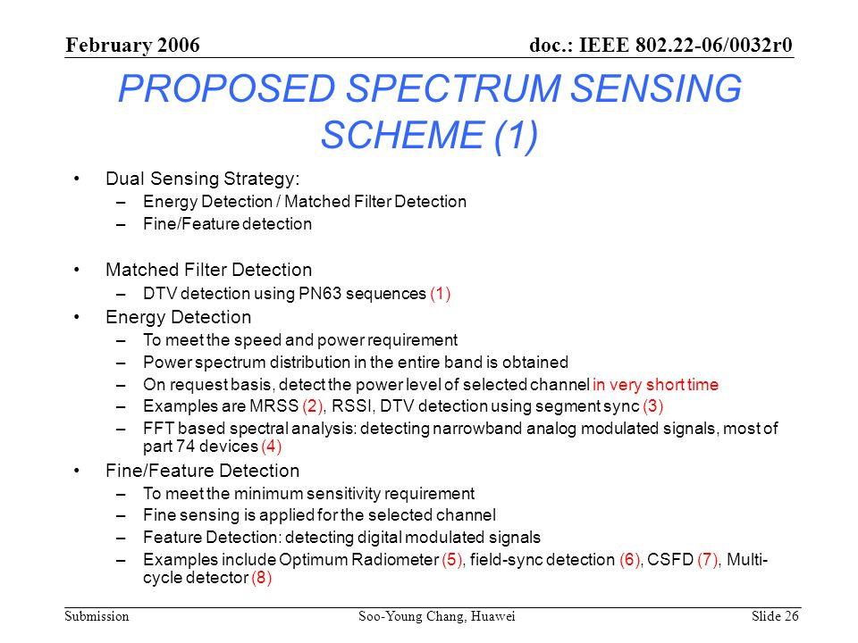 PROPOSED SPECTRUM SENSING SCHEME (1)