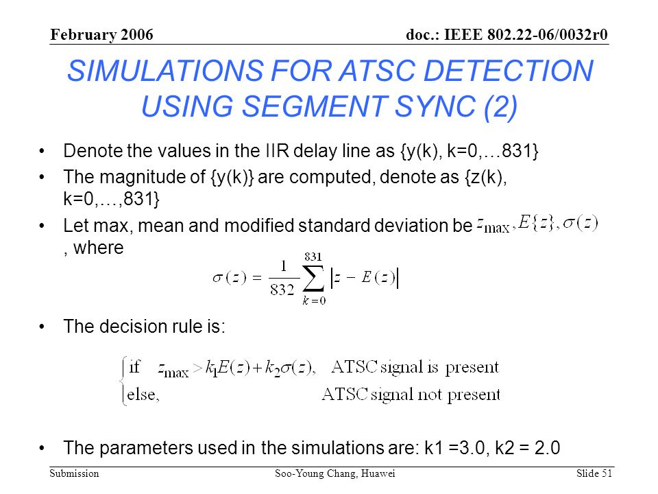 SIMULATIONS FOR ATSC DETECTION USING SEGMENT SYNC (2)