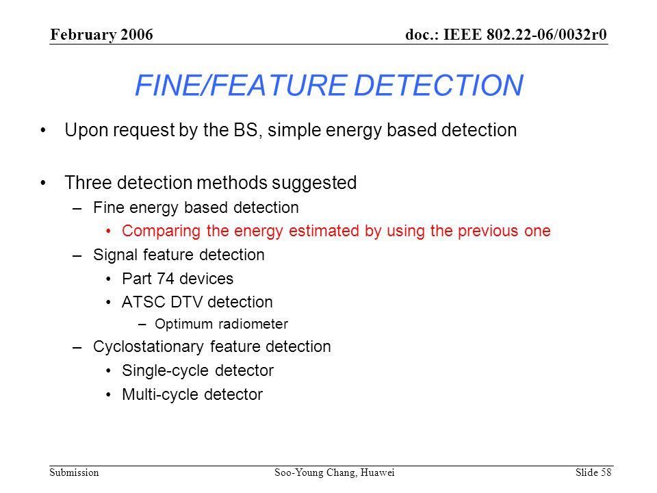 FINE/FEATURE DETECTION
