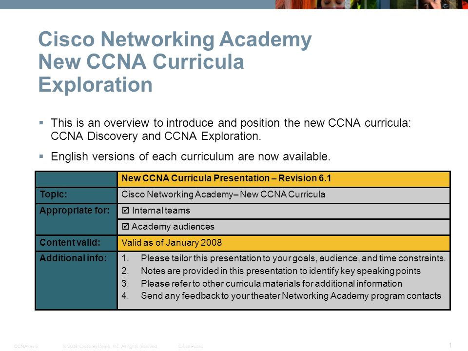 cisco networking academy new ccna curricula exploration ppt download rh slideplayer com Cisco Networking Lab CCNA Lab Kit