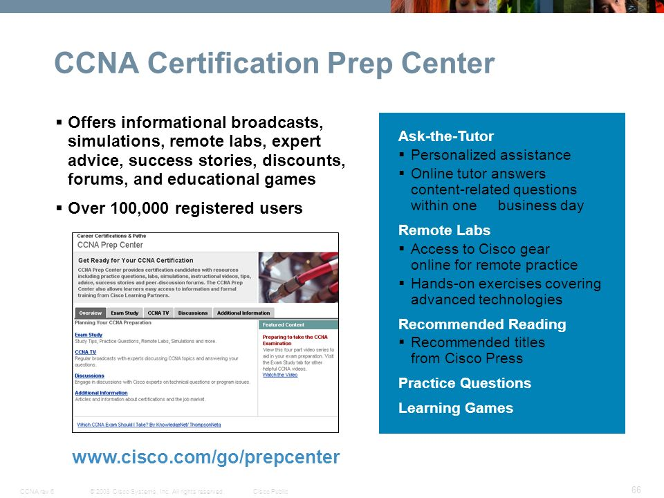 Cisco Networking Academy New CCNA Curricula Exploration
