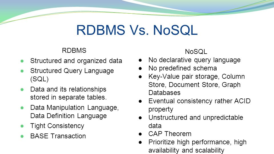 nosql by michael britton  mark mcgregor  and sam howard