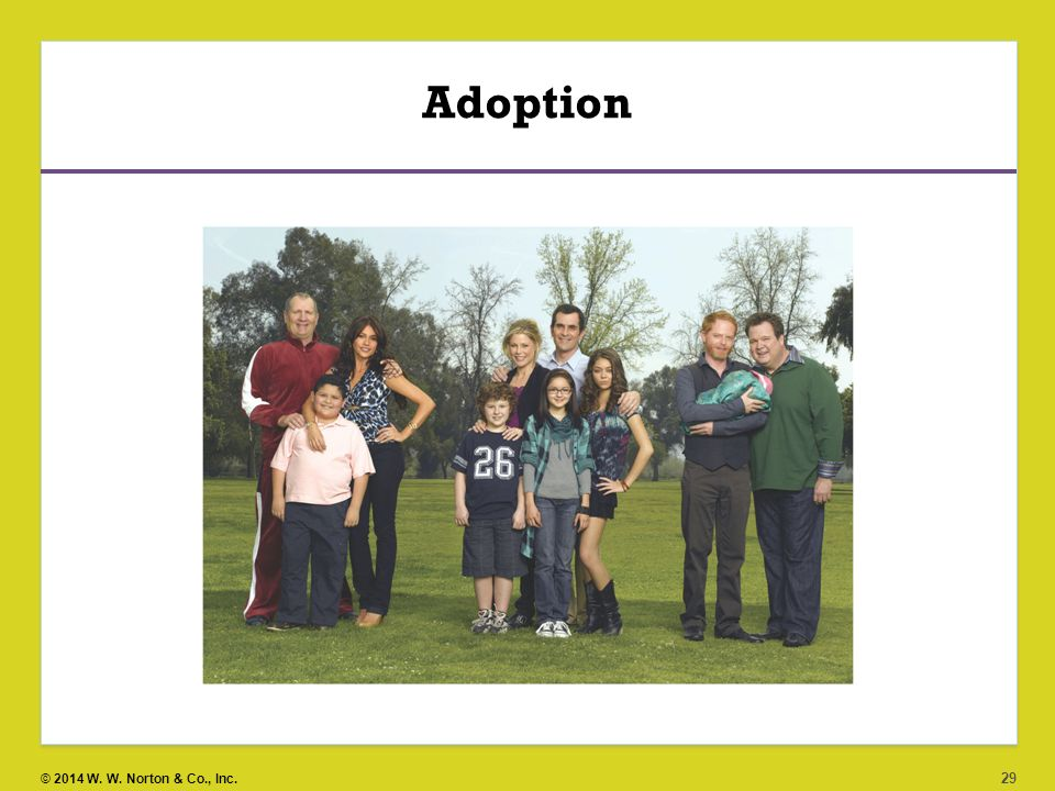 Adoption Adoption was, and still remains, an option for parents who are unable or unwilling to raise their own biological children.