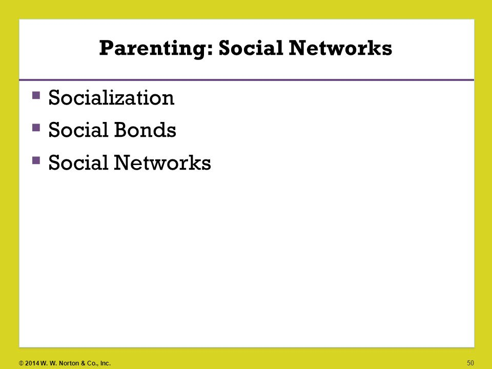 Parenting: Social Networks