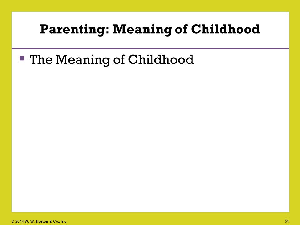 Parenting: Meaning of Childhood