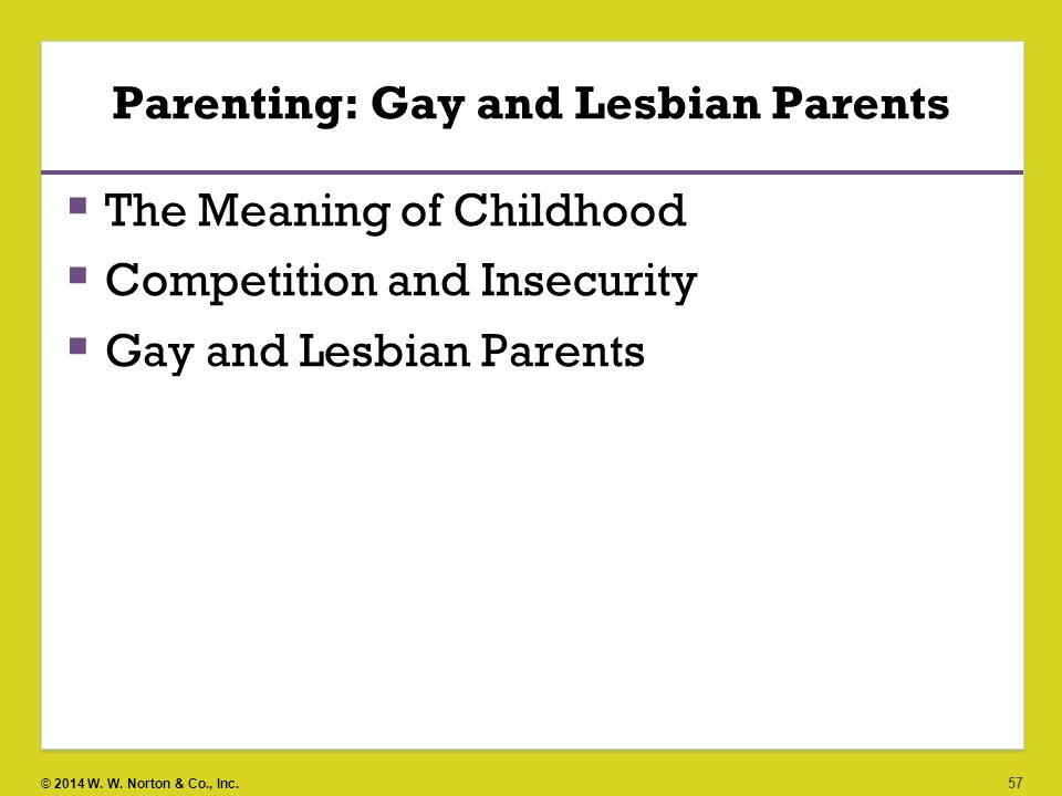 Parenting: Gay and Lesbian Parents