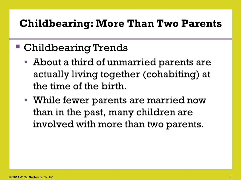 Childbearing: More Than Two Parents