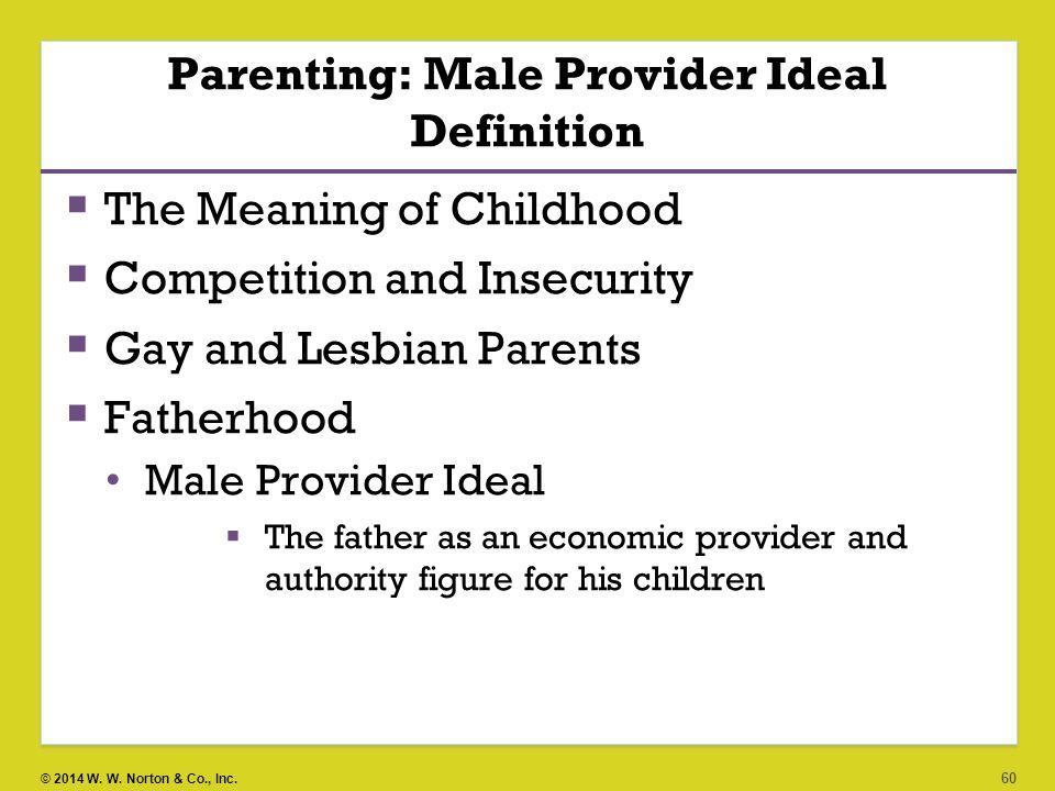 Parenting: Male Provider Ideal Definition