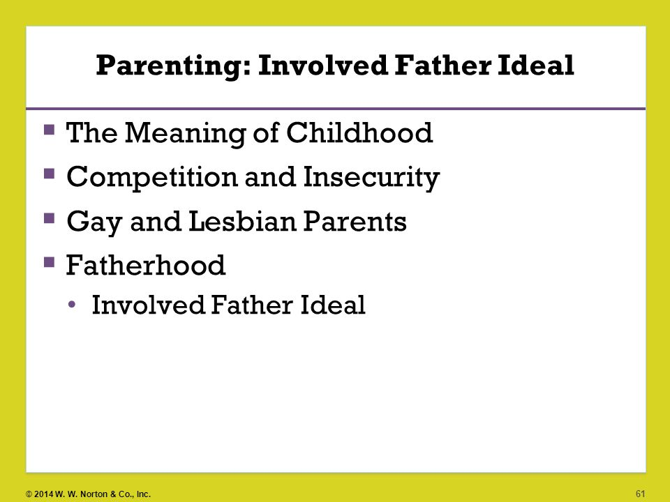 Parenting: Involved Father Ideal