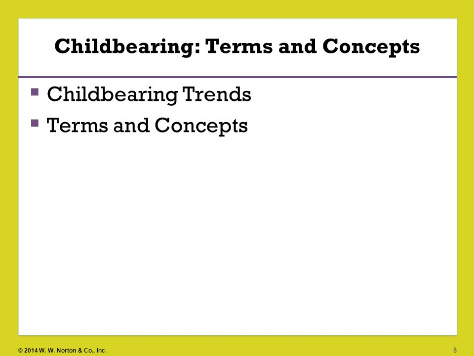 Childbearing: Terms and Concepts
