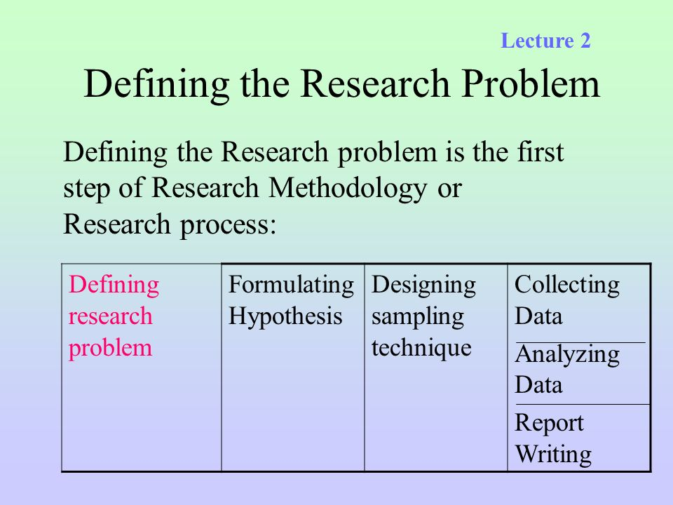 first step of research process