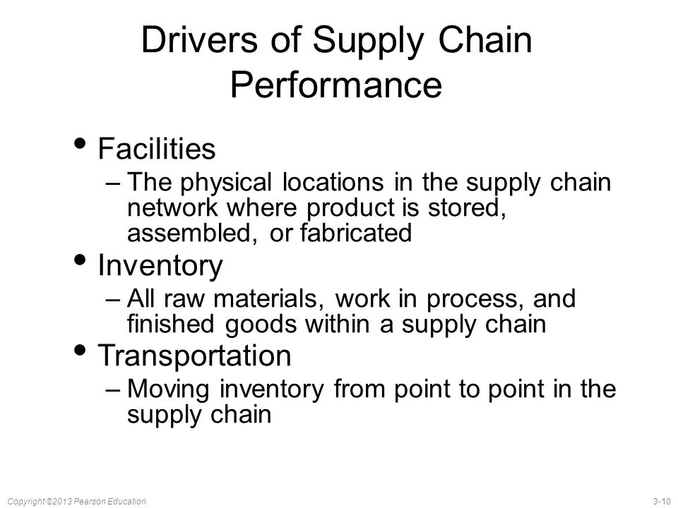 what are the drivers of supply chain performance
