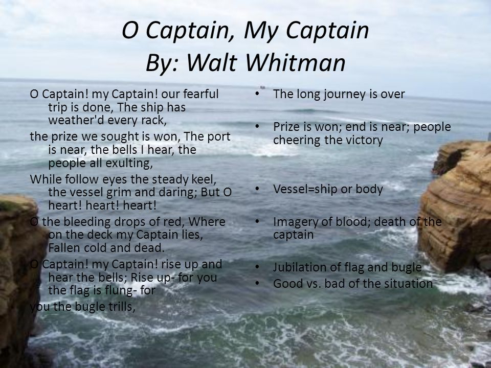 walt whitman oh captain