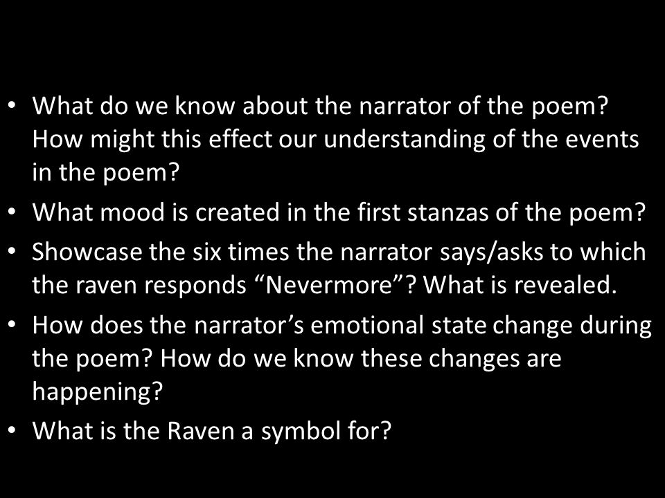The Tell Tale Heart And The Raven Ppt Download