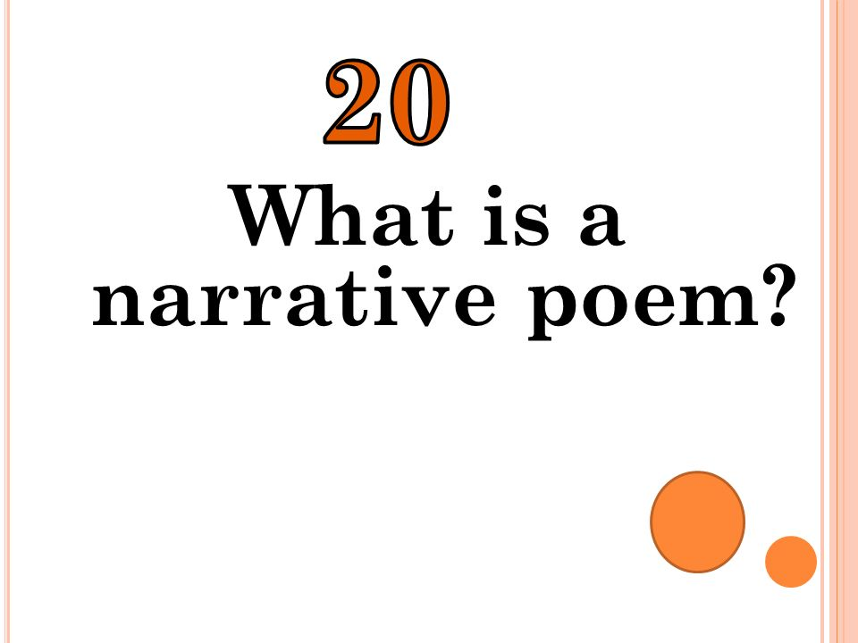 What is a narrative poem