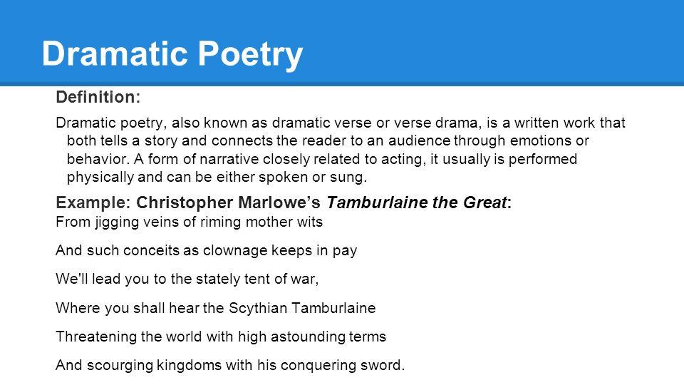 verse drama example