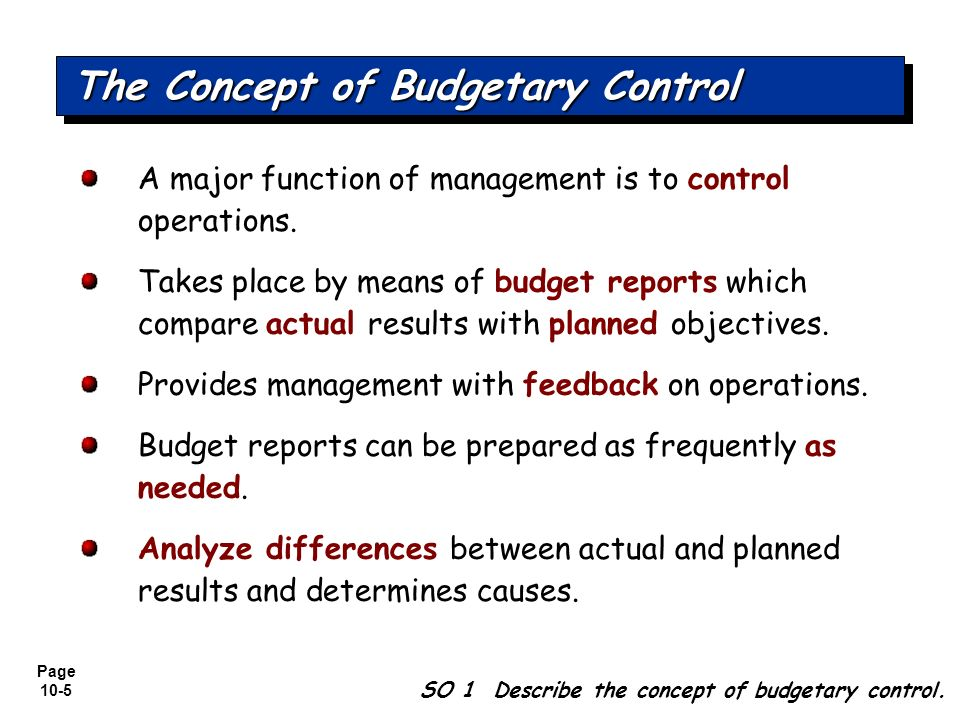 Budgetary Control and Responsibility Accounting - ppt download