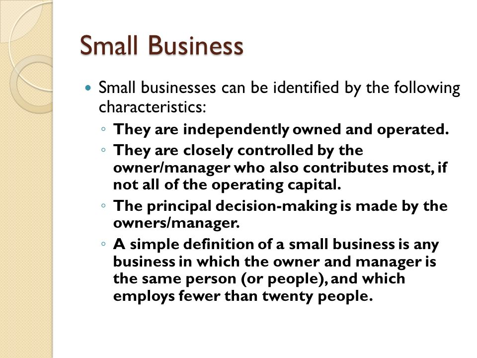 small business owner definition