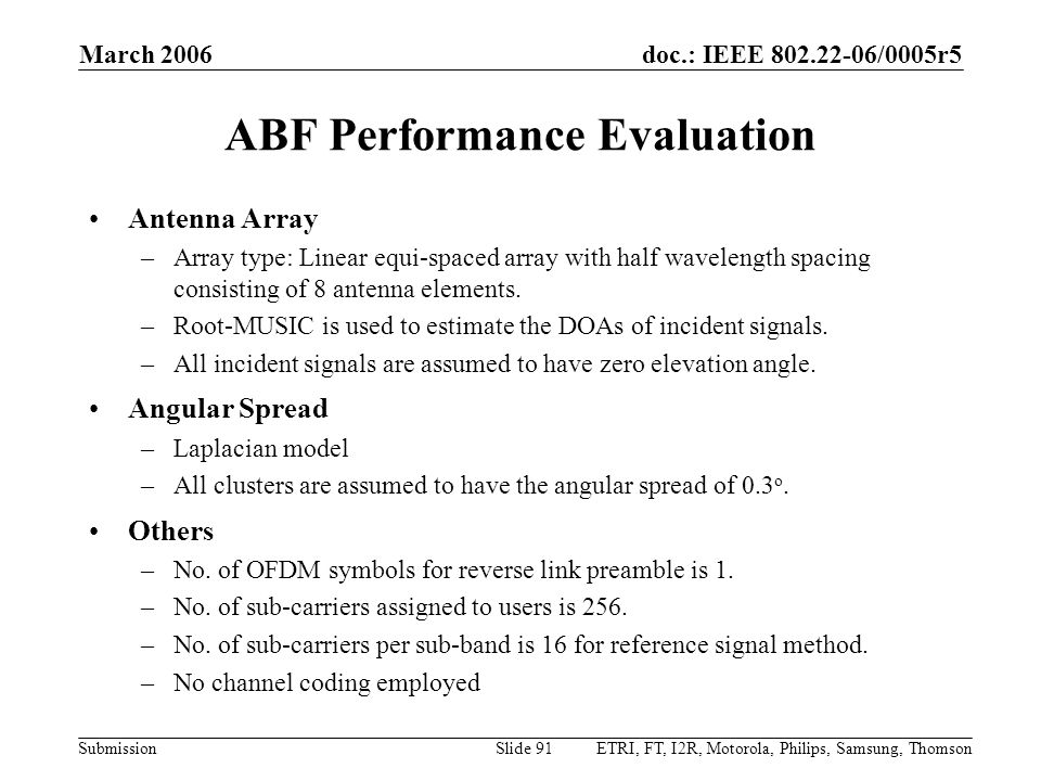 ABF Performance Evaluation