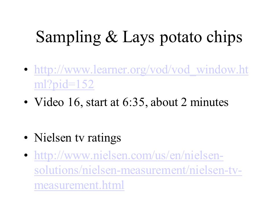 Sampling & Lays potato chips