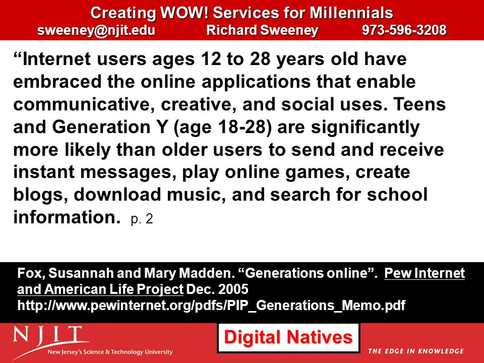 Creating WOW! Services for Millennials - ppt download